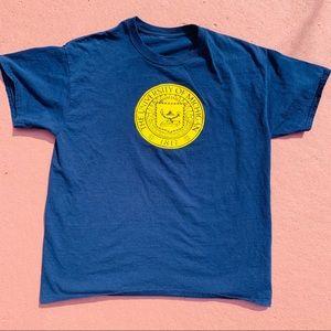navy University of Michigan shirt